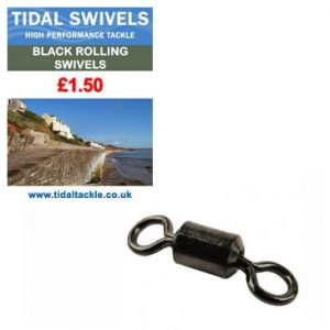 TIDAL BLACK ROLLING SWIVELS