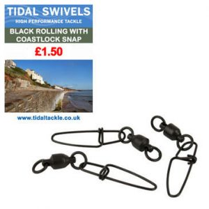 TIDAL BLACK ROLLING SWIVELS WITH COASTLOCK SNAP
