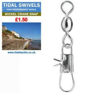 TIDAL NICKEL CRANE SNAP SWIVELS
